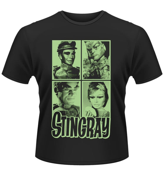 Stingray T-shirt featuring Troy, Titan, Marina, and Commander Shore - Gerry Anderson Official - 1
