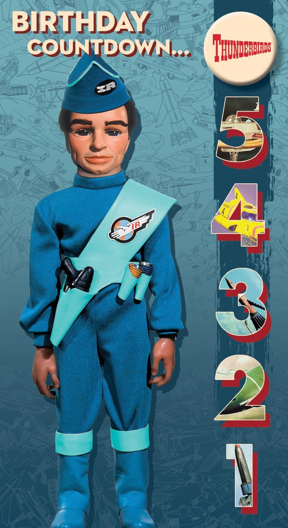 Official Thunderbirds Birthday Countdown Card with Badge - The Gerry Anderson Store