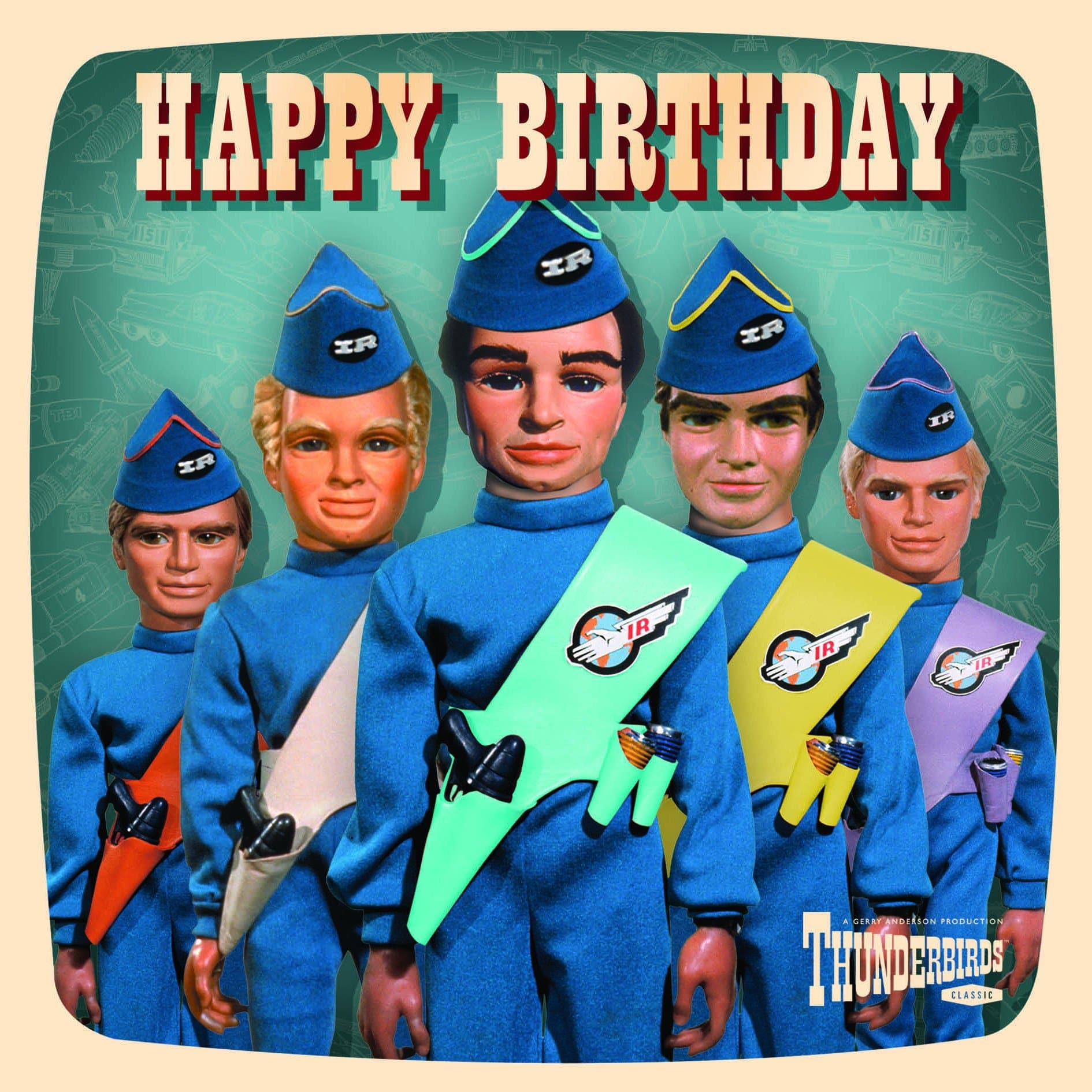 Thunderbirds Happy Birthday Card - Gerry Anderson Official