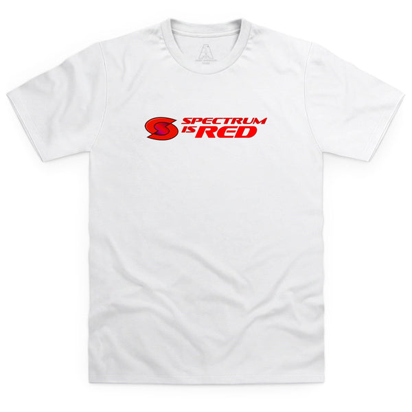 Spectrum Is Red Men's White T-Shirt [Official & Exclusive] - The Gerry Anderson Store