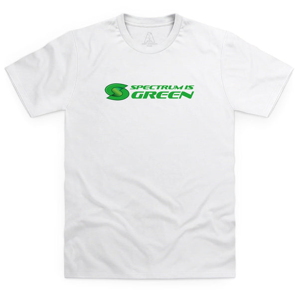 Spectrum Is Green Men's White T-Shirt [Official & Exclusive] - The Gerry Anderson Store
