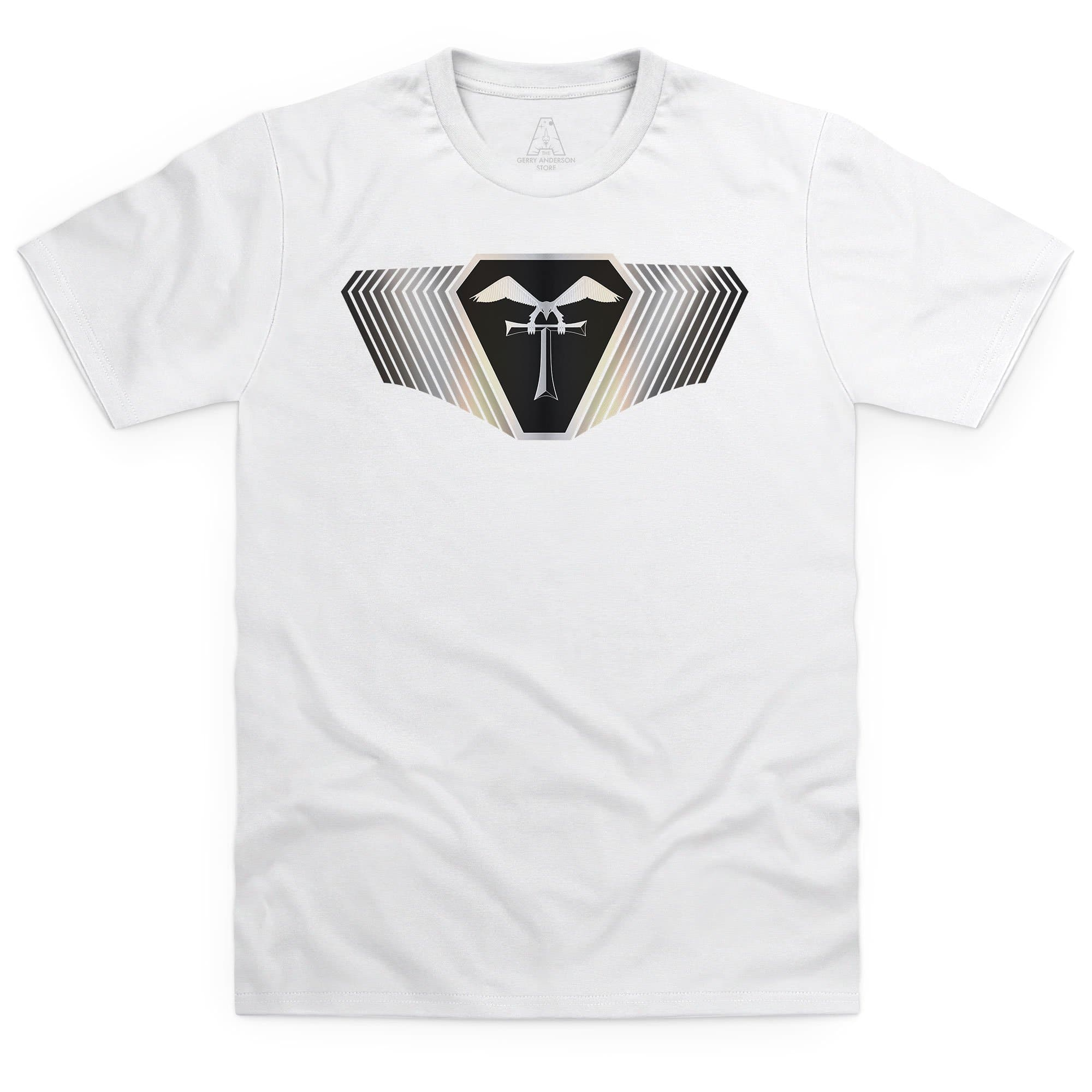 Terrahawks Silver Emblem Men's White T-Shirt [Official & Exclusive]