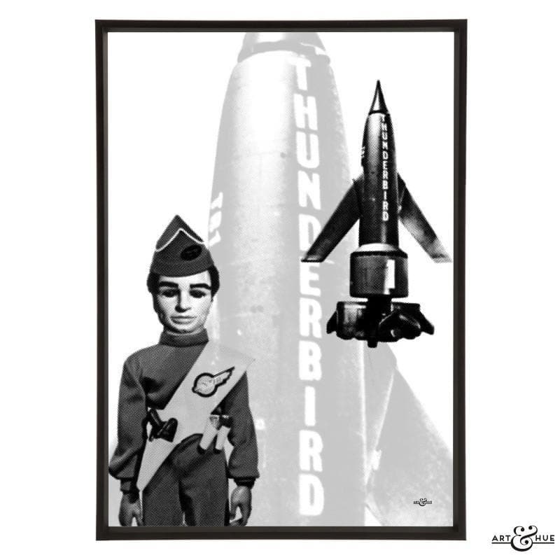 Pop art of Thunderbird 1 with Scott Tracy - The Gerry Anderson Store