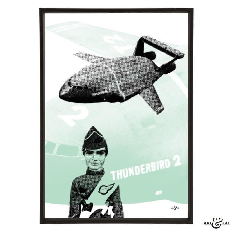 Pop art of Thunderbird 2 with Virgil Tracy - The Gerry Anderson Store