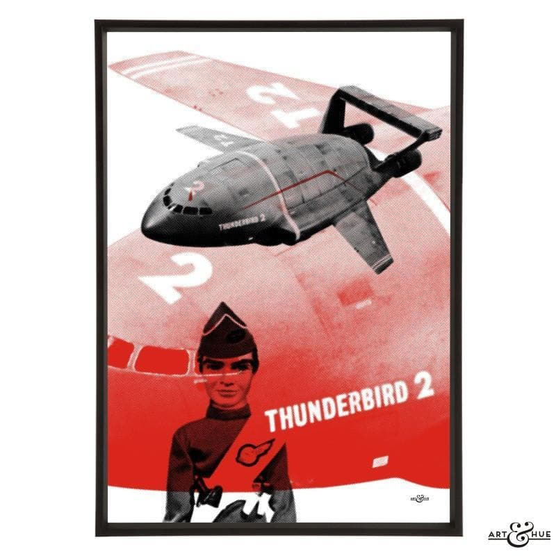 Pop art of Thunderbird 2 with Virgil Tracy - Gerry Anderson Official - 2