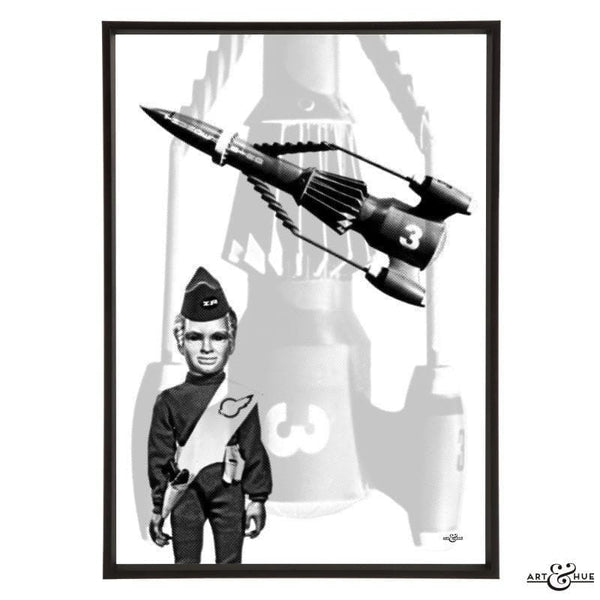 Pop art of Thunderbird 3 with Alan Tracy - Gerry Anderson Official - 1