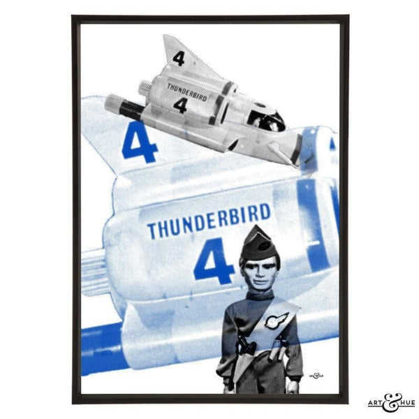 Pop art of the submersible Thunderbird 4 with Gordon Tracy - Gerry Anderson Official - 1