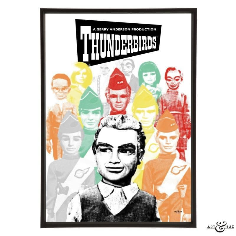 Pop art group portrait of Thunderbirds characters - Gerry Anderson Official - 2