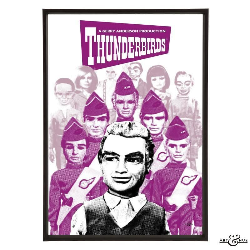 Pop art group portrait of Thunderbirds characters - Gerry Anderson Official - 6
