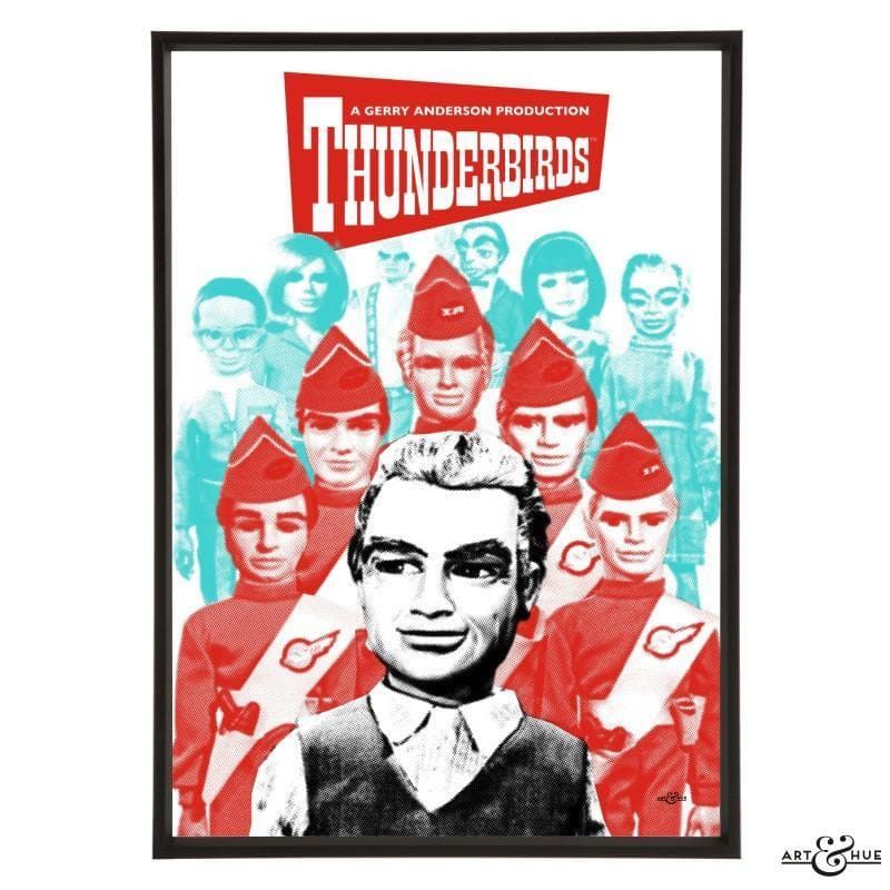 Pop art group portrait of Thunderbirds characters - Gerry Anderson Official - 7
