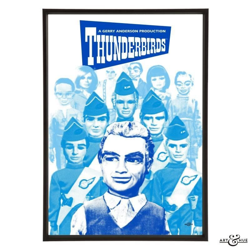 Pop art group portrait of Thunderbirds characters - Gerry Anderson Official - 8
