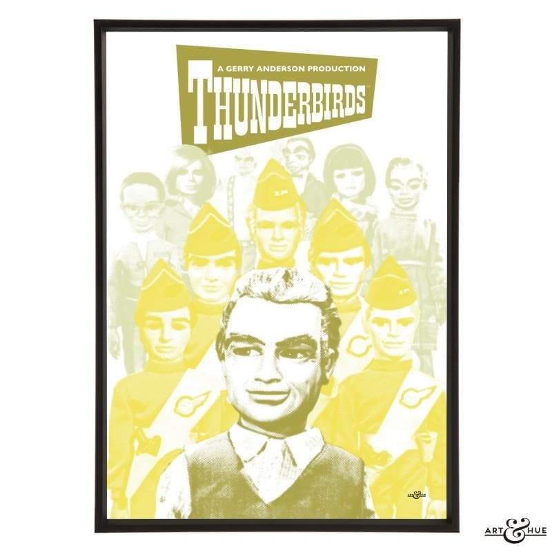 Pop art group portrait of Thunderbirds characters - The Gerry Anderson Store