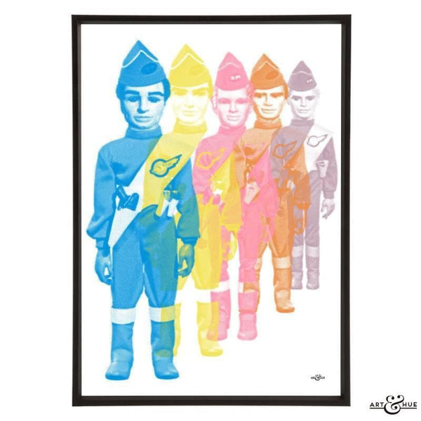 Pop art print of the Tracy Brothers - The Gerry Anderson Store