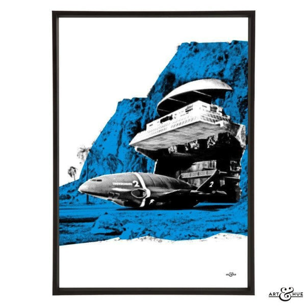 Pop art of Tracy Island Cliff House - The Gerry Anderson Store