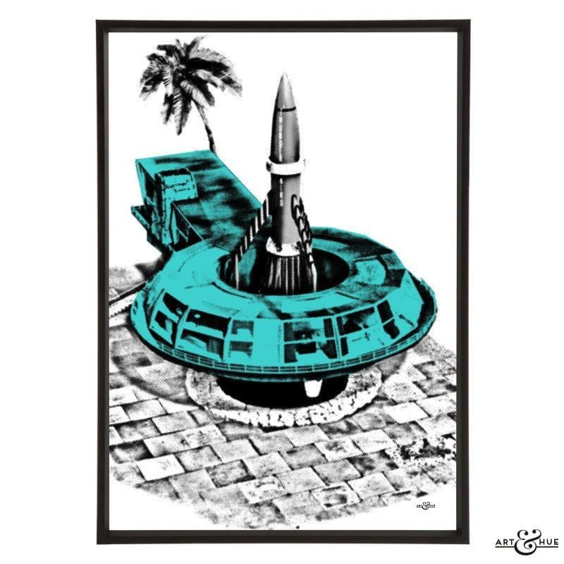 Pop art of Tracy Island Round House - The Gerry Anderson Store