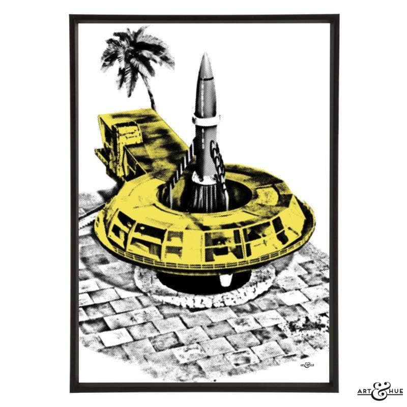 Pop art of Tracy Island Round House - Gerry Anderson Official - 3