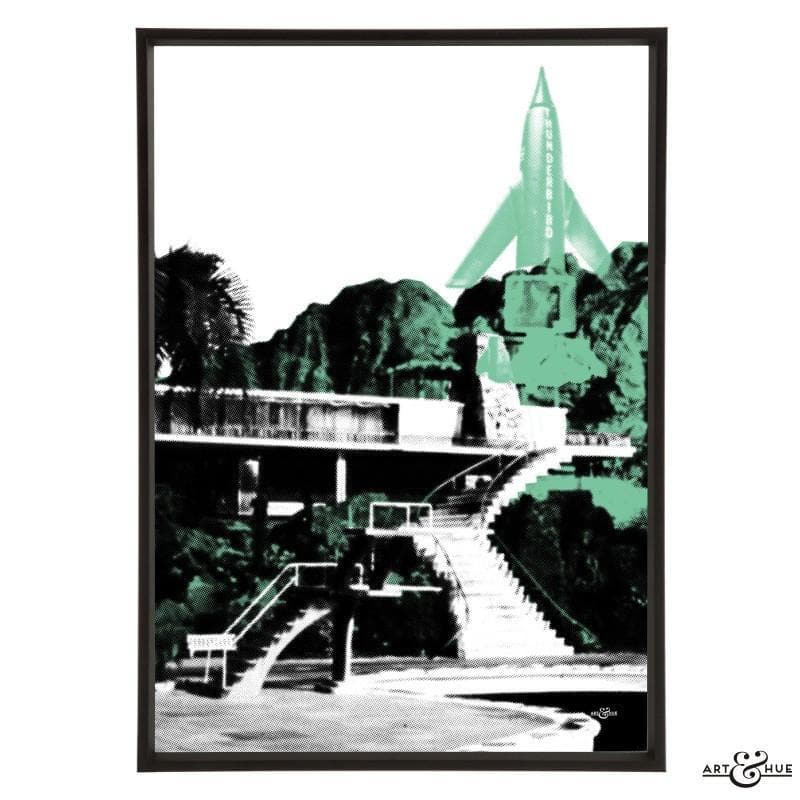 Pop art of Tracy Island Villa - The Gerry Anderson Store