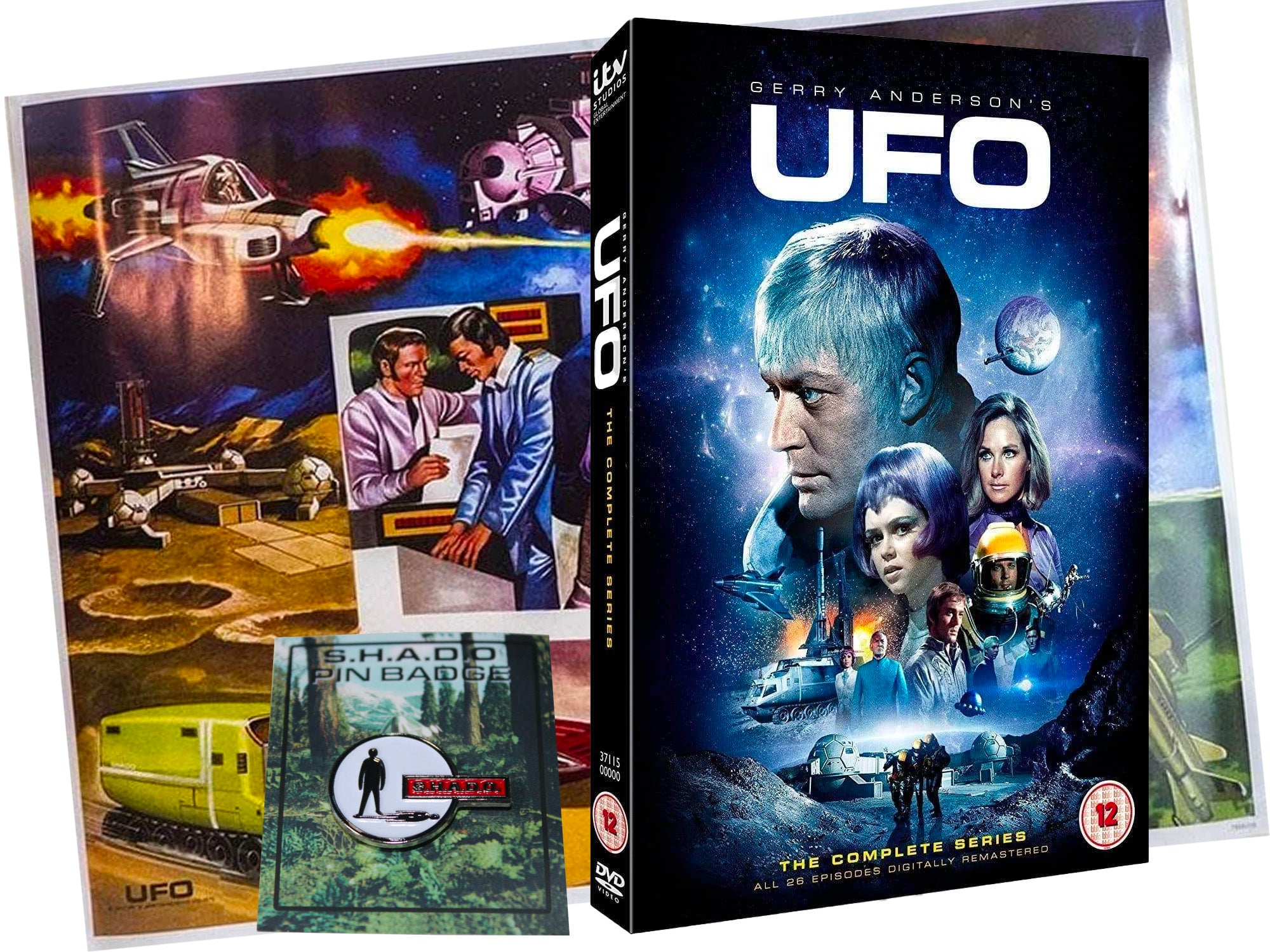 UFO DVD, Poster & Badge Gift Pack (Bundle)