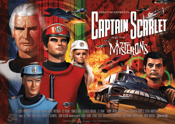 Official Captain Scarlet 50th Anniversary Poster - The Gerry Anderson Store