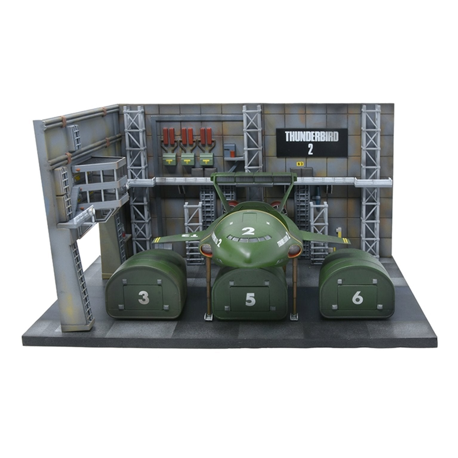 1:350 Thunderbird 2 Launch Bay Model Kit