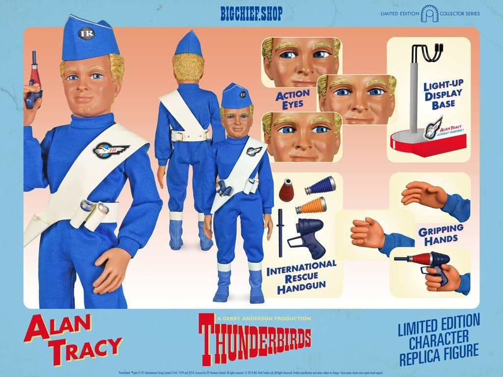 1/6 Scale Alan Tracy Character Replica Thunderbirds Figure from Big Chief Studios - The Gerry Anderson Store