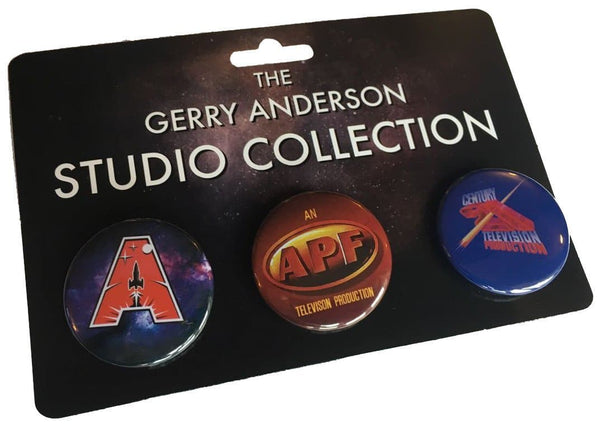 New and Exclusive - The Gerry Anderson Studio Collection Three Badge Pack - Gerry Anderson Official - 1