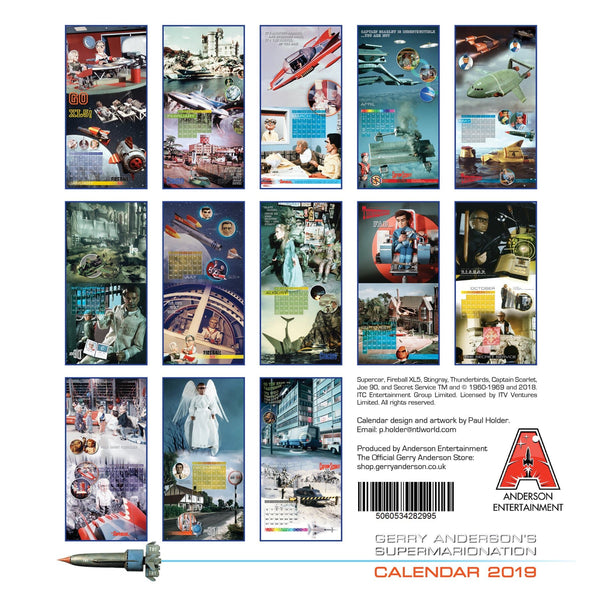 Free Comic Book Day 2019 Exclusives: Gerry Anderson's Supermarionation 2019 Calendar [Official