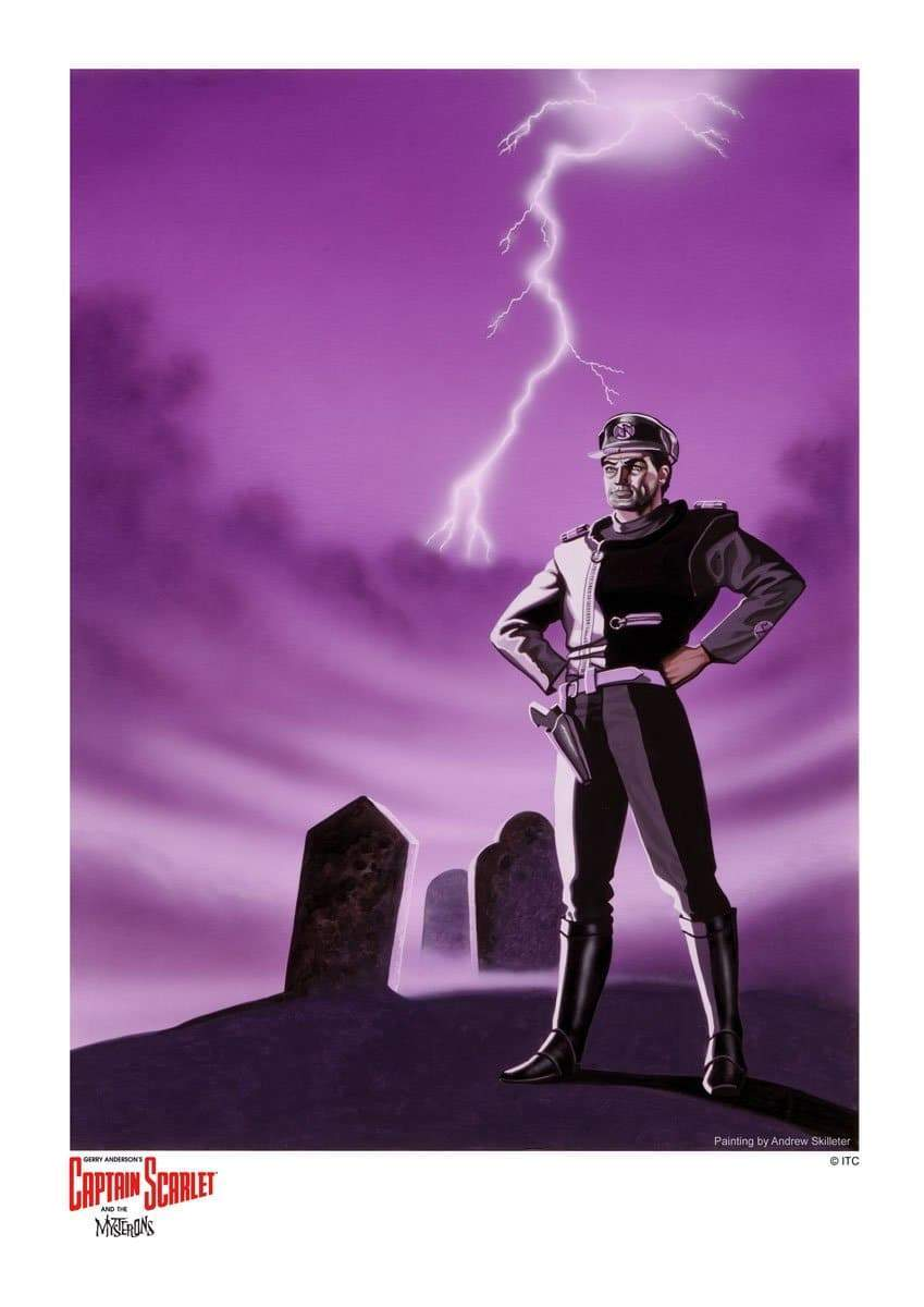 "Captain Black ""Blacklight"" Artist Signed Print (Official & Exclusive] - The Gerry Anderson Store"