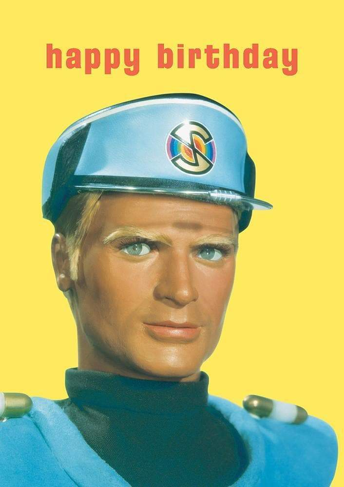 Captain Blue Birthday Card - The Gerry Anderson Store