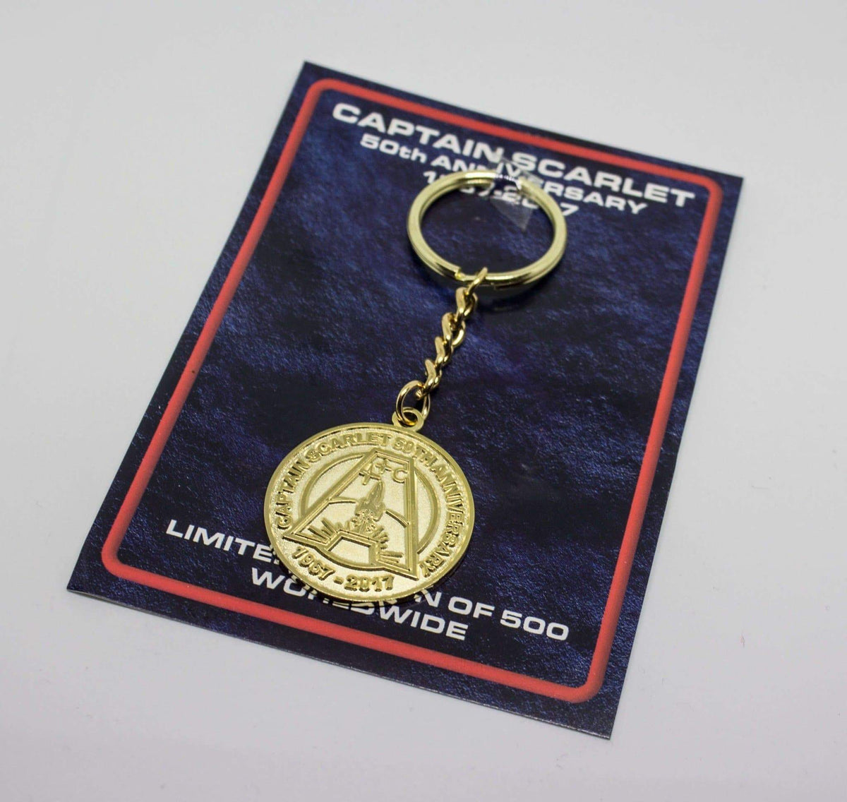 Captain Scarlet 50th Anniversary Keyring [Limited Edition and Exclusive] - The Gerry Anderson Store