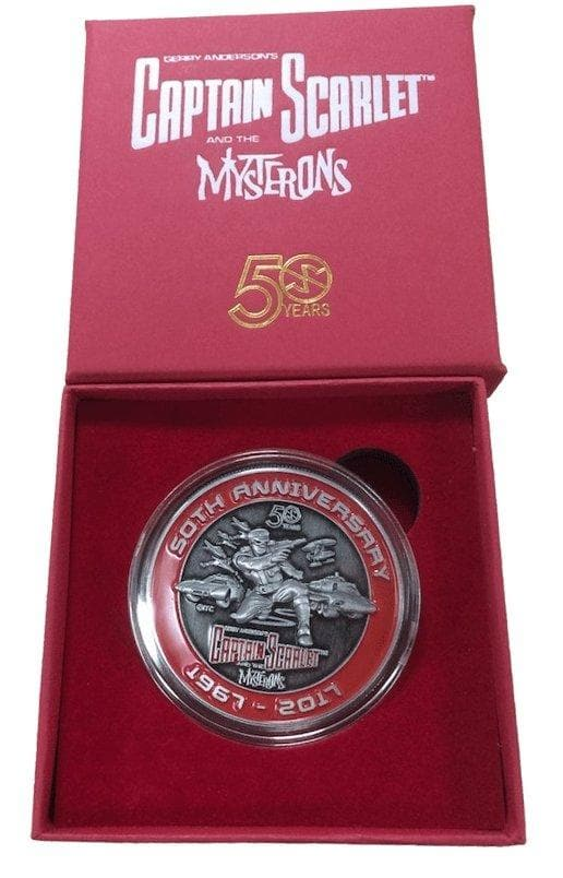 Captain Scarlet And The Mysterons 50th Anniversary Limited Edition Challenge Coin - The Gerry Anderson Store