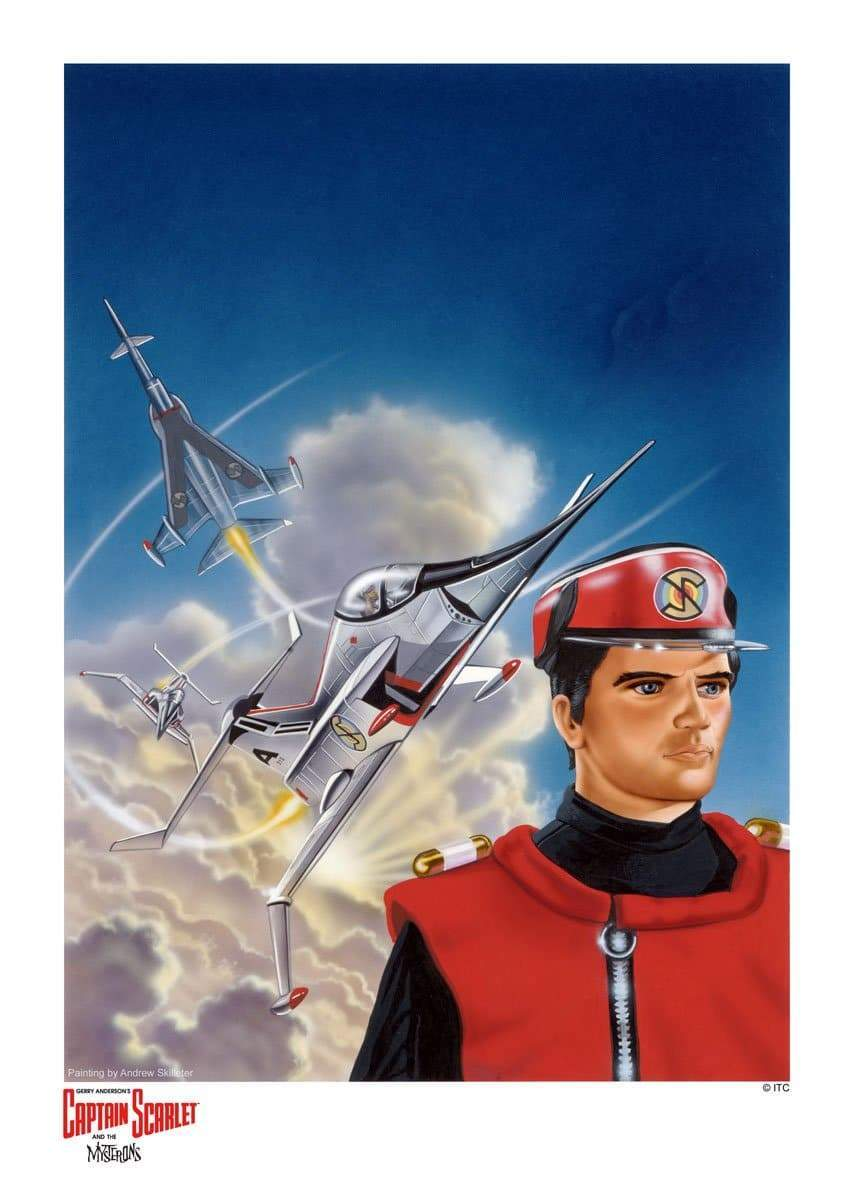 Captain Scarlet : Angel Attack! Artist Signed Print (Official & Exclusive] - The Gerry Anderson Store