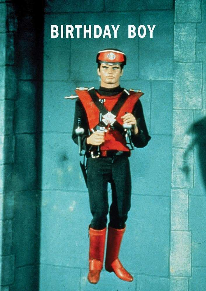 Captain Scarlet Birthday Card - The Gerry Anderson Store