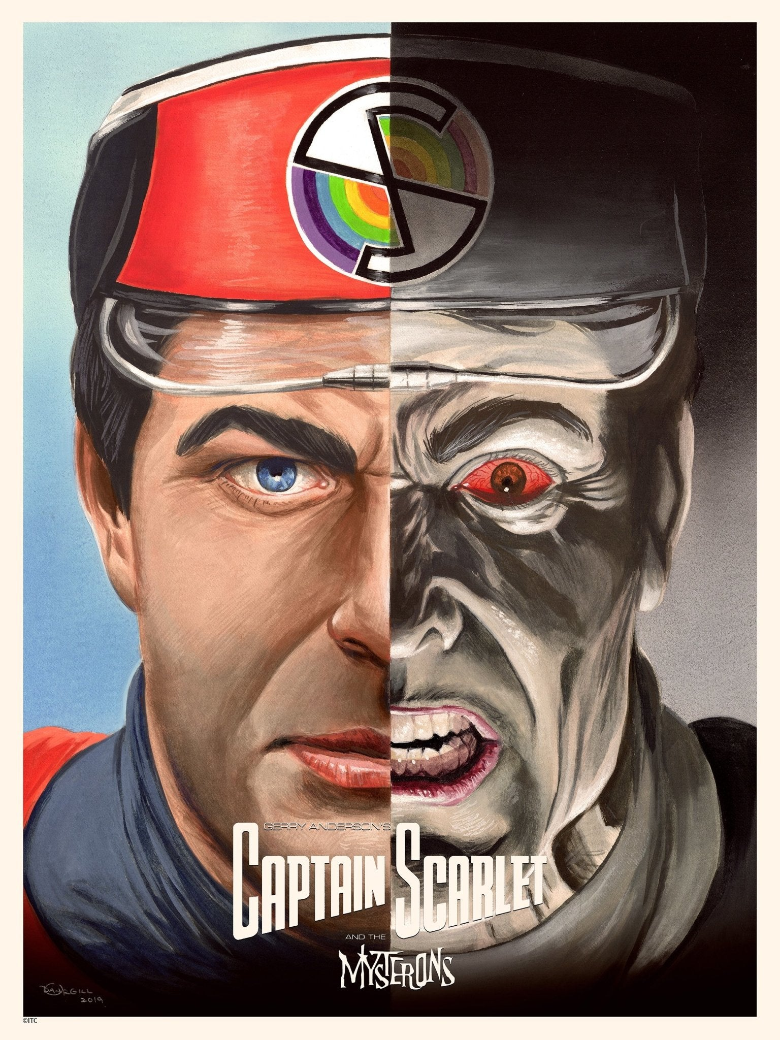 Captain Scarlet/ Captain Black Print by Dan Orgill - The Gerry Anderson Store