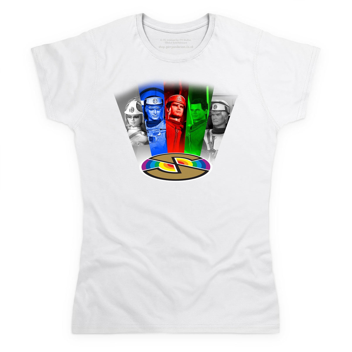 Captain Scarlet Cast Women's White T-Shirt [Official & Exclusive] - The Gerry Anderson Store