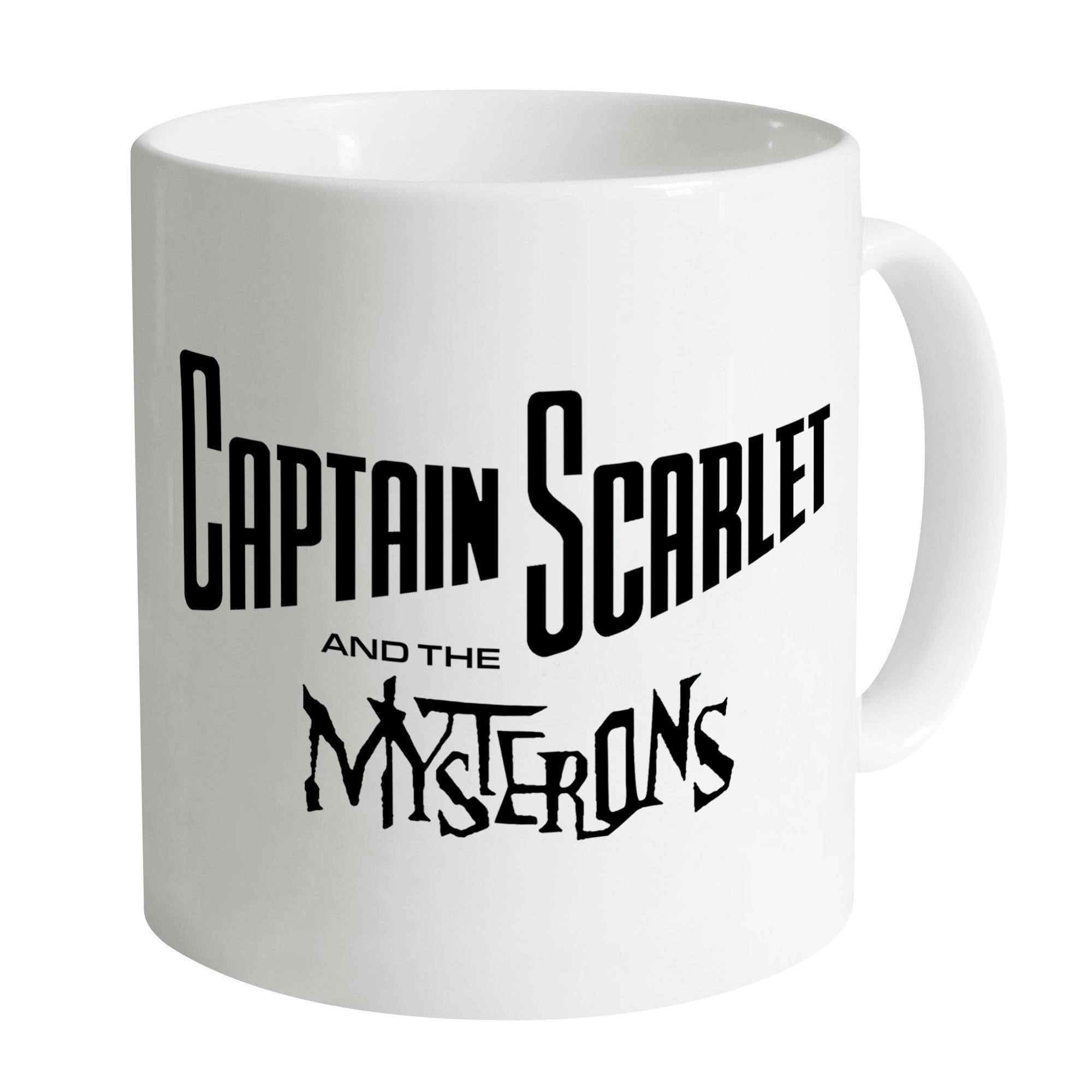 Captain Scarlet Classic Black Logo Mug [Official & Exclusive] - The Gerry Anderson Store