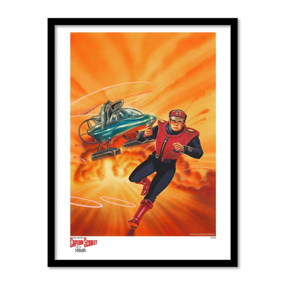 Captain Scarlet 'Fire' Artist Signed Print (Official & Exclusive] - The Gerry Anderson Store