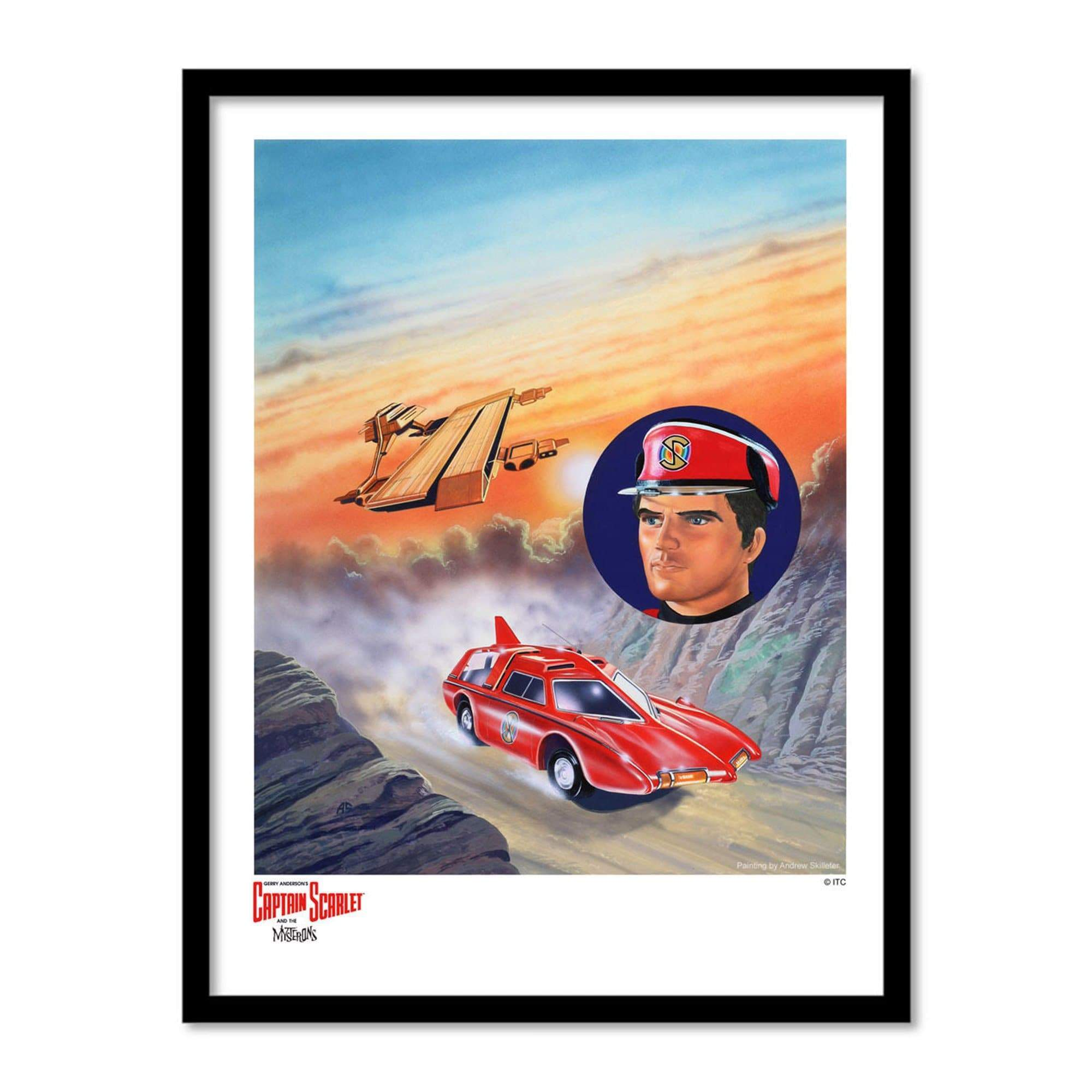 Captain Scarlet 'Indestructible' Artist Signed Print (Official & Exclusive] - The Gerry Anderson Store