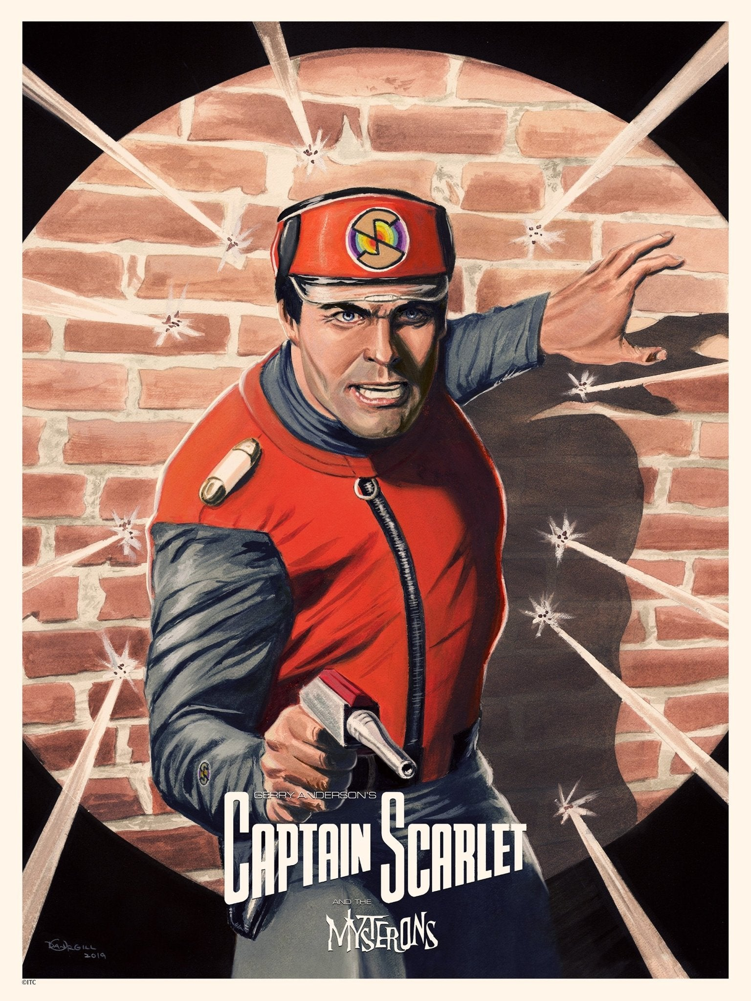 Captain Scarlet Print by Dan Orgill - The Gerry Anderson Store