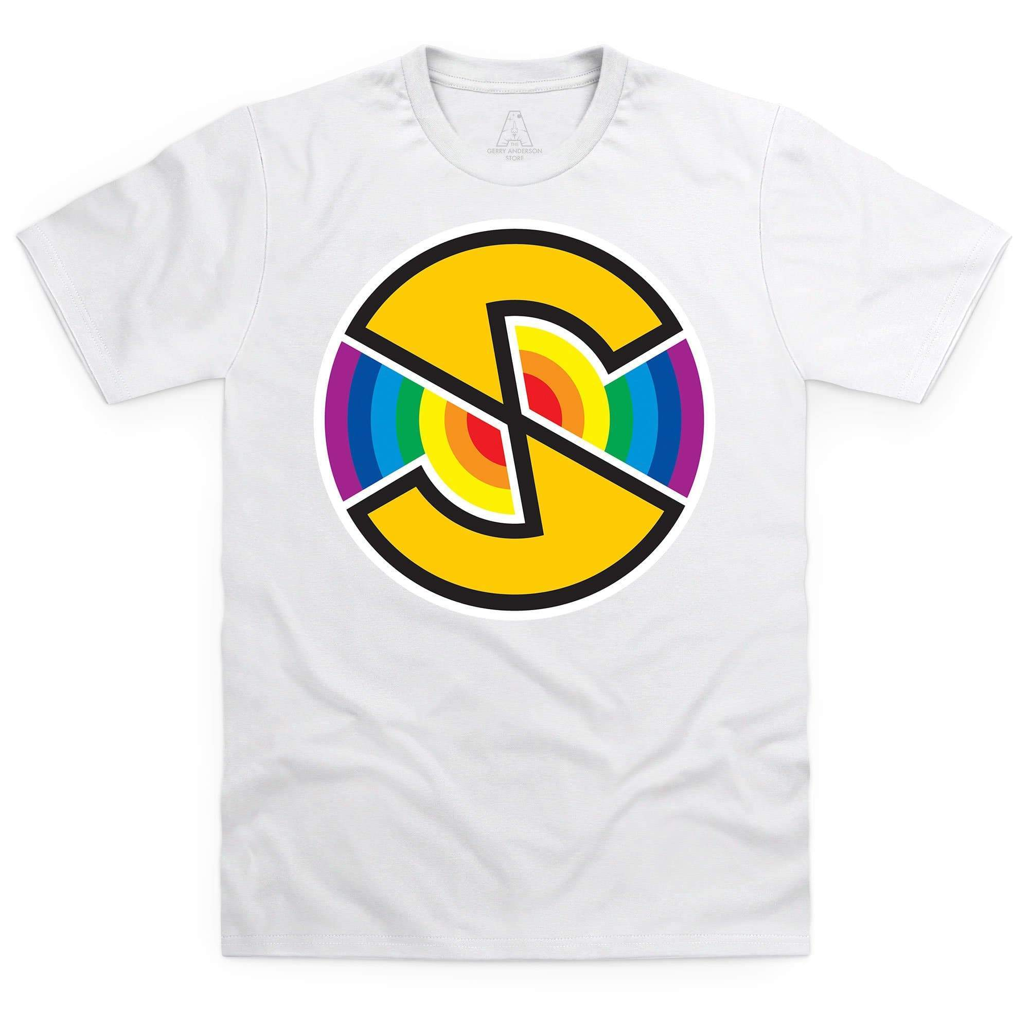 Captain Scarlet Spectrum Logo Men's White T-Shirt [Official & Exclusive] - The Gerry Anderson Store