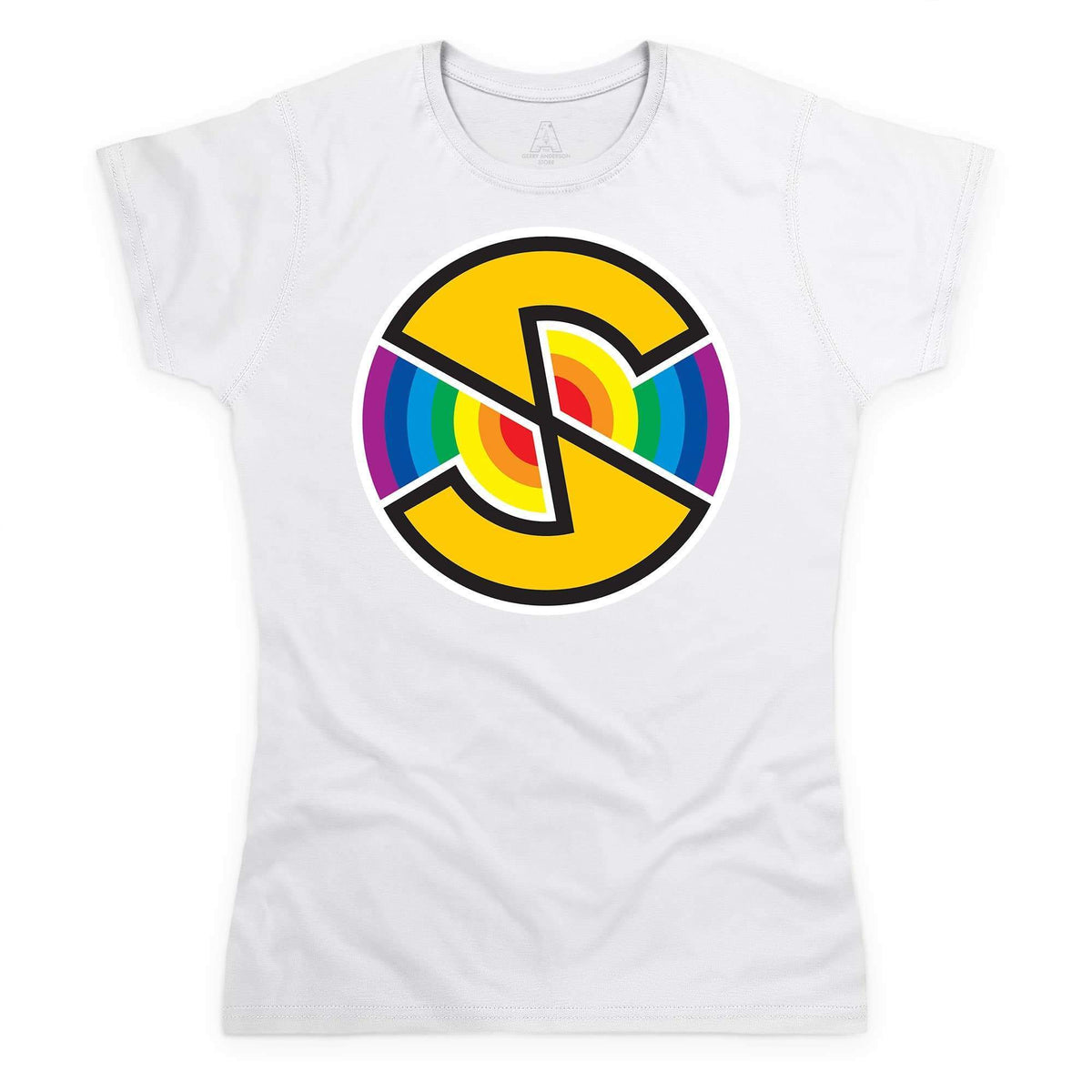 Captain Scarlet Spectrum Logo Women's White T-Shirt [Official & Exclusive] - The Gerry Anderson Store
