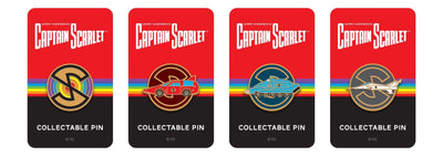 Captain Scarlet Spectrum Saloon Car Enamel Pin Badge by Florey - The Gerry Anderson Store