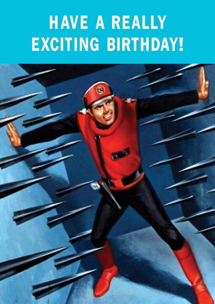 Captain Scarlet Spikes Birthday Card - The Gerry Anderson Store