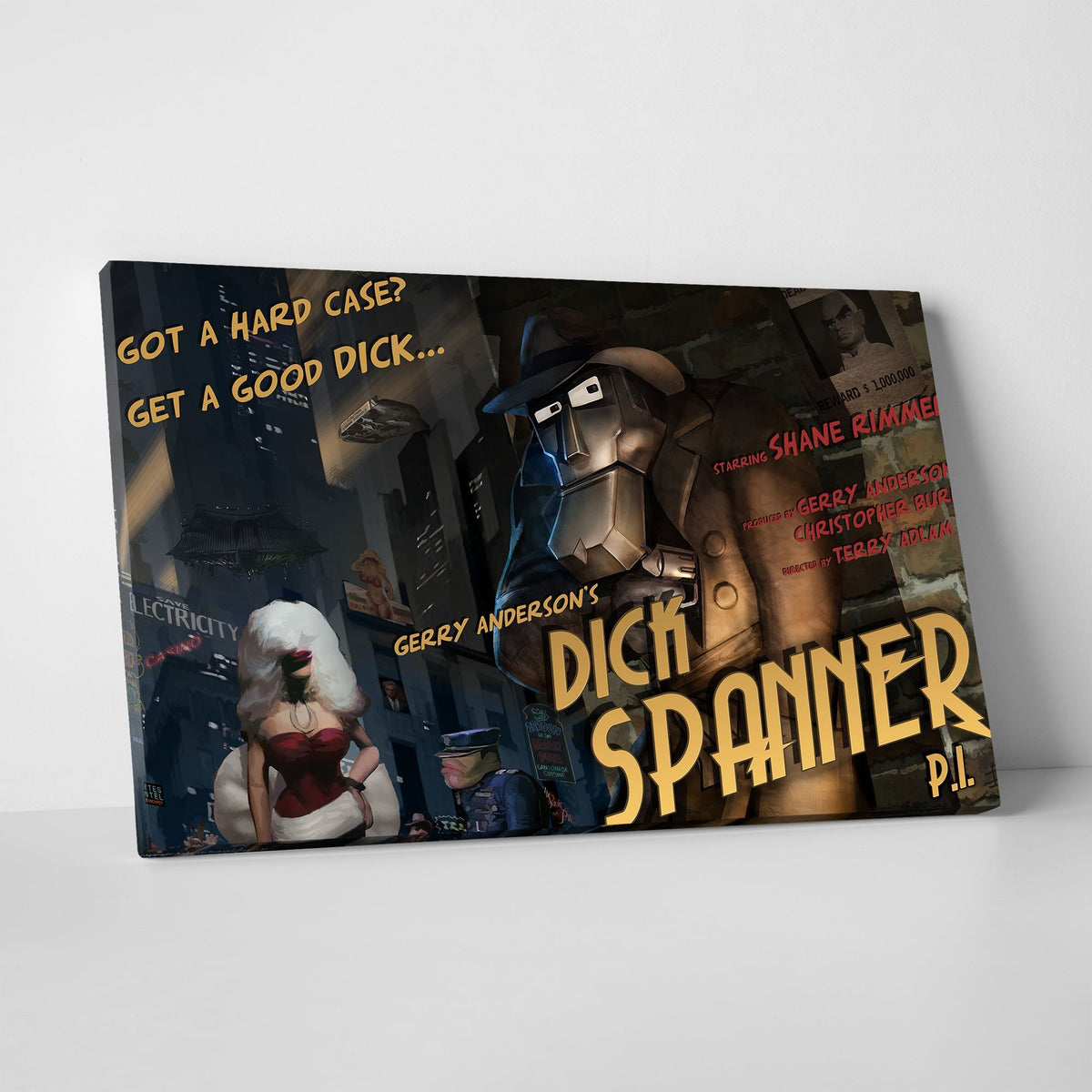 Dick Spanner Canvas Print [Official and Exclusive] - The Gerry Anderson Store