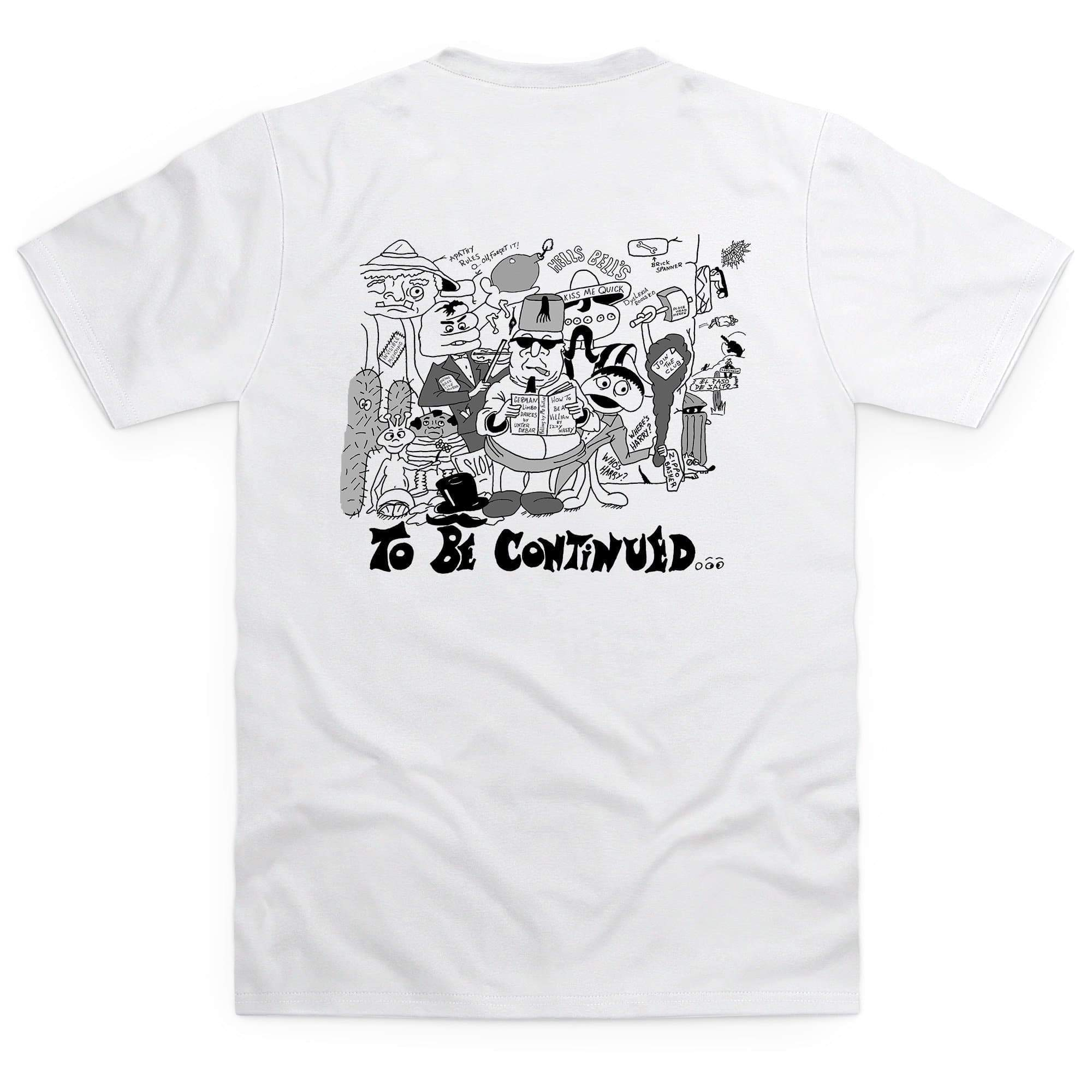 Dick Spanner Comic Strip Men's White T-Shirt [Official & Exclusive] - The Gerry Anderson Store