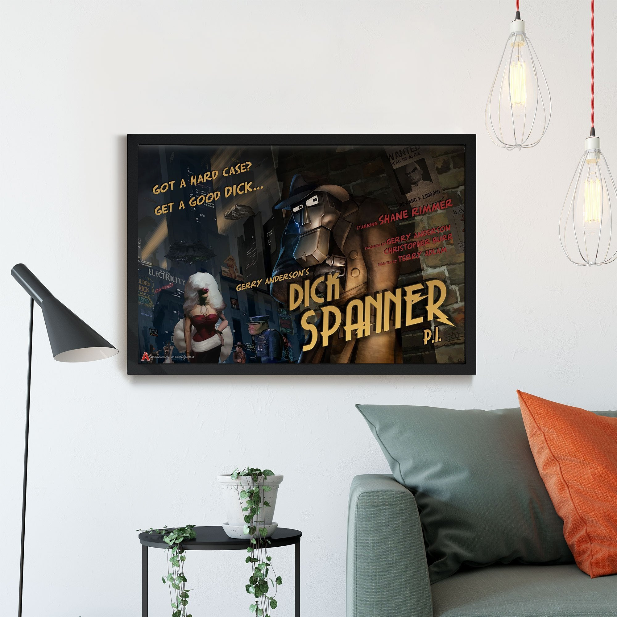 Dick Spanner Framed Print [Official and Exclusive] - The Gerry Anderson Store