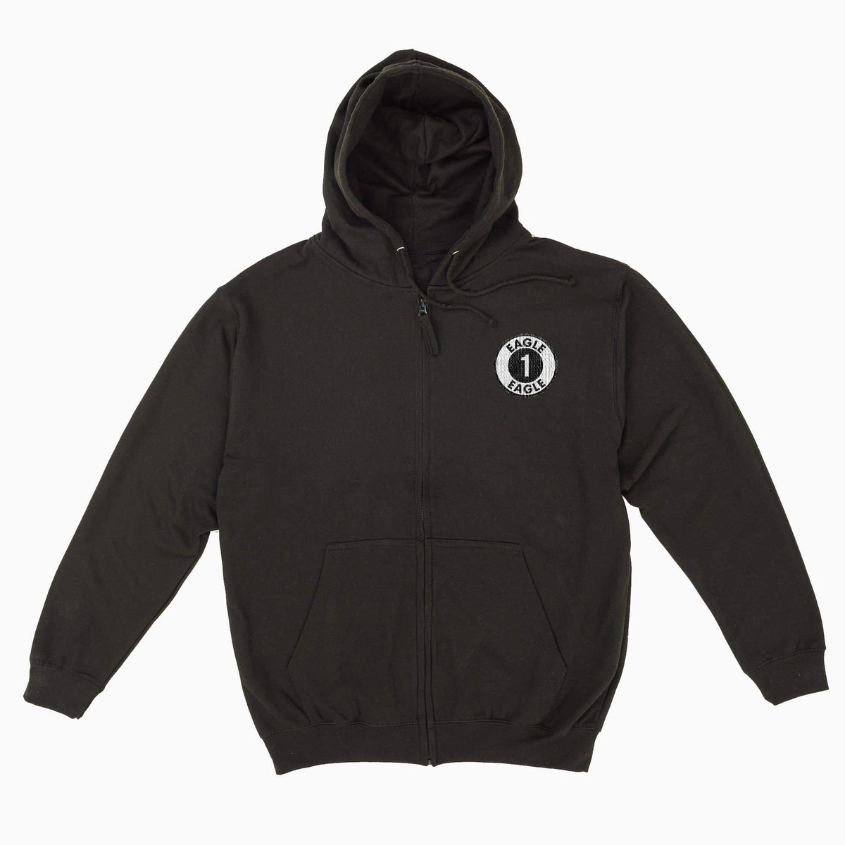 Eagle One Logo Men's Zipped Hoodie with Embroidery - The Gerry Anderson Store
