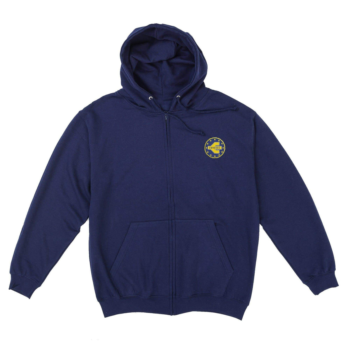 Eurosec Logo Men's Zipped Hoodie with Embroidery - The Gerry Anderson Store