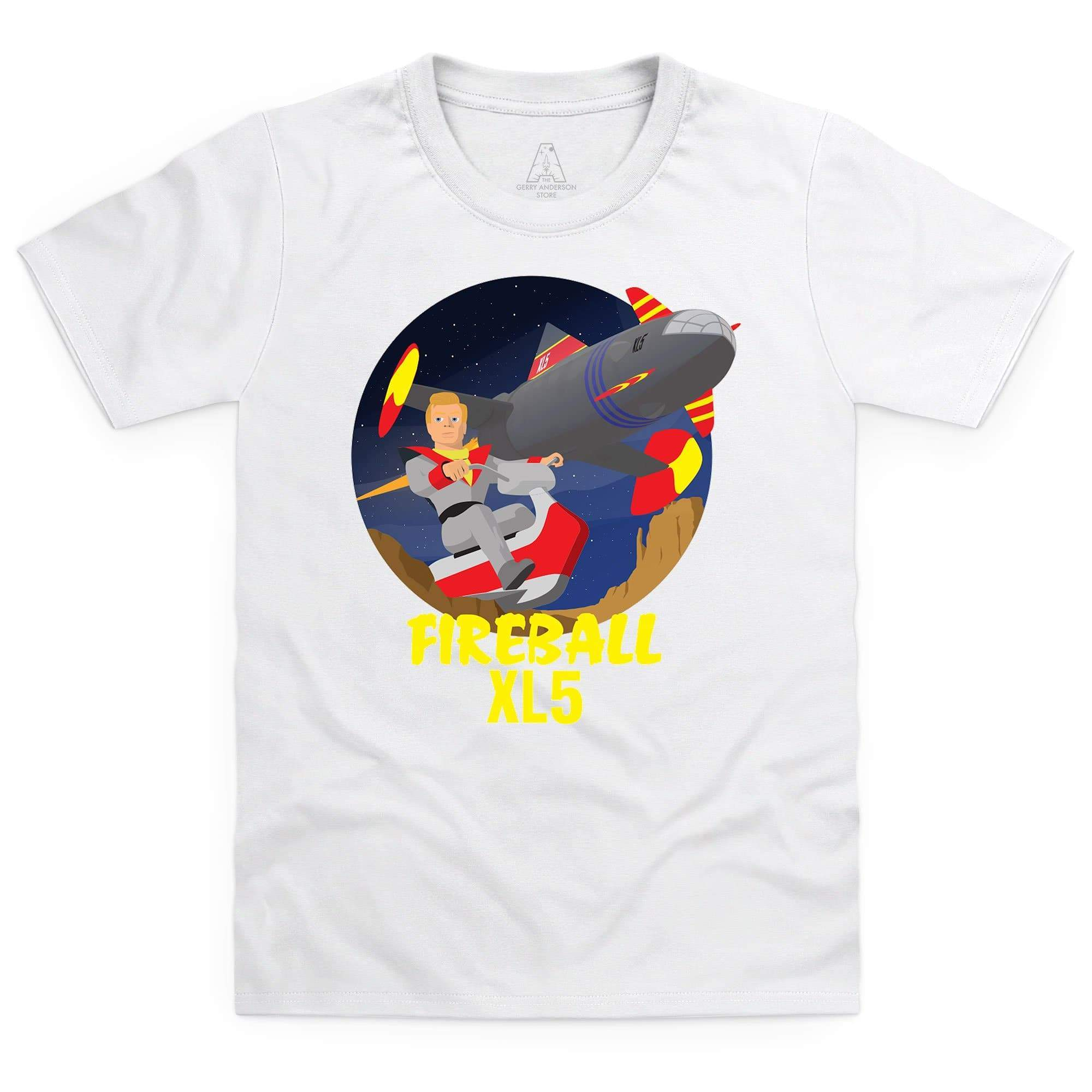 Fireball XL5 Kid's White T-Shirt [Official & Exclusive] - The Gerry Anderson Store