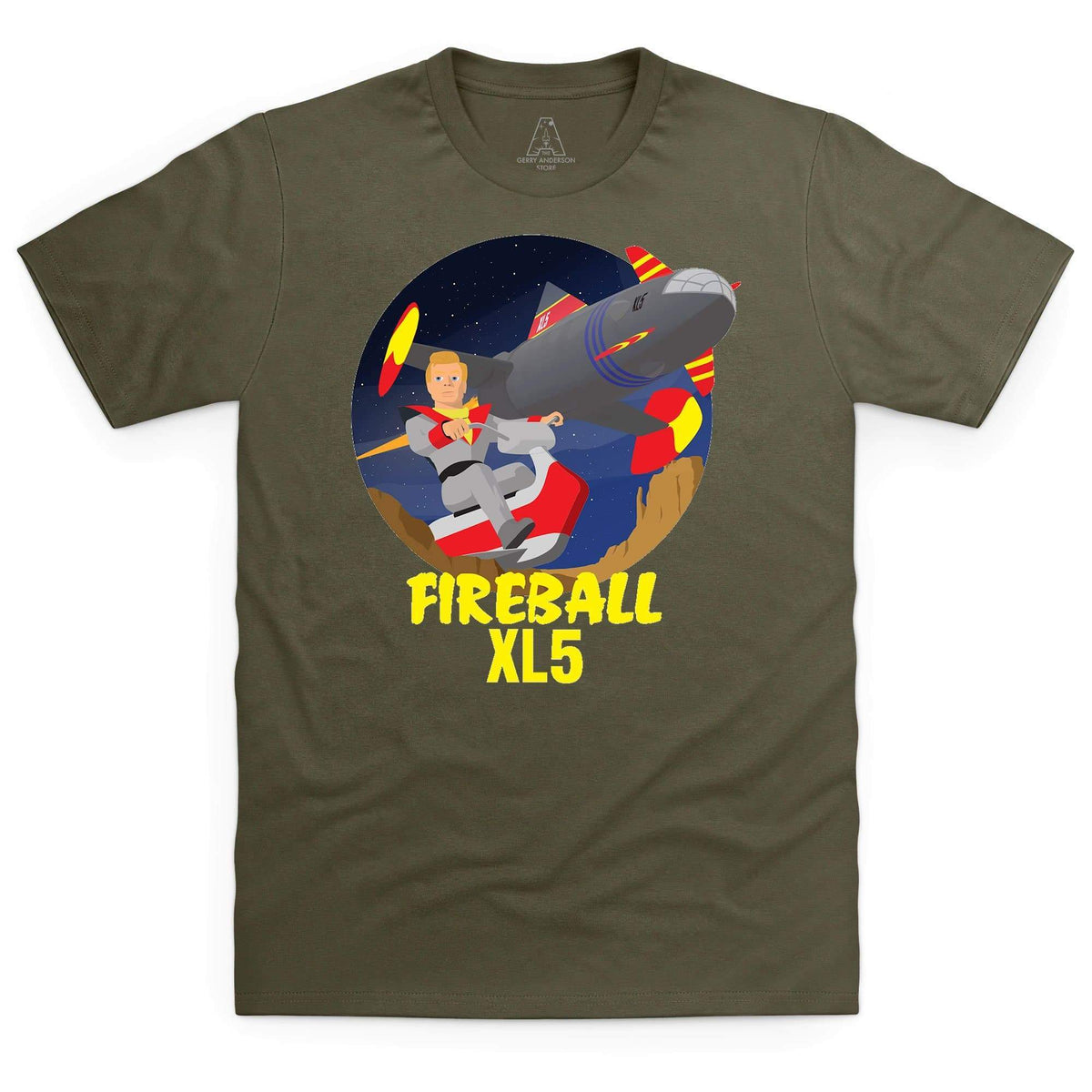 Fireball XL5 Men's T-Shirt [Official & Exclusive] - The Gerry Anderson Store
